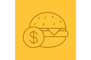 Buy hamburger color linear icon