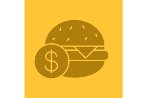 Buy hamburger glyph color icon