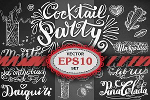 Lettering cocktail names