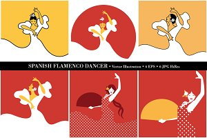 6 Spanish flamenco dancers