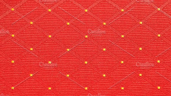 Red Background Of Square Shape Texture