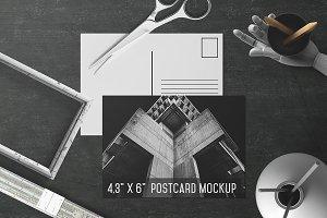 6x4.3'' Postcard Mockup