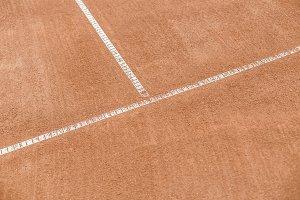 Orange tennis court