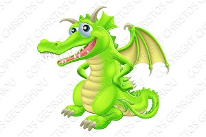 Cartoon Standing Dragon