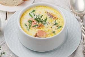 Creamy fish soup