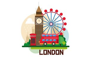 London, united kingdom, red bus