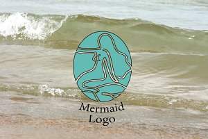 Aqua Mermaid Logo