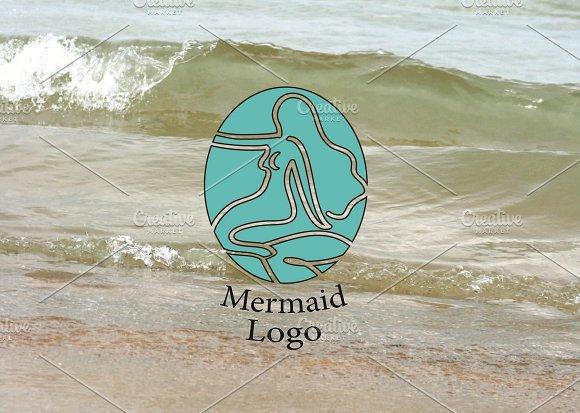 Aqua Mermaid Logo