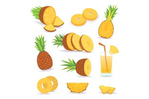 pineapple slices fruits