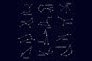 horoscope, constellation, zodiac