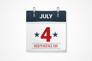 july fourth calendar background