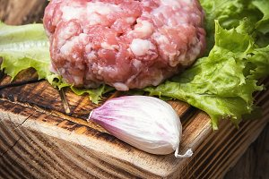 fresh raw minced meat beef