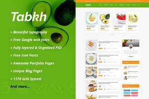 Tabkh – Recipe & Food PSD Template