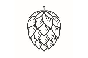 Hop emblem icon label logo.