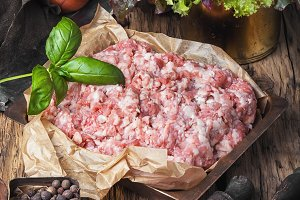 raw minced meat beef