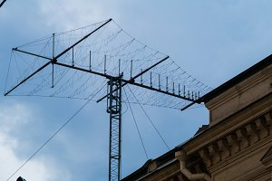 Antenna short-wave on the sky