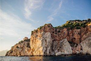 Rocky coast of the Adriatic Sea in Montenegro