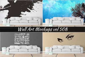 Wall Mockup - Sticker Mockup Vol 508