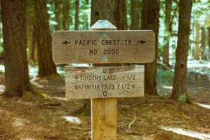 Pacific Crest Trail marker sign
