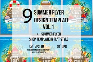 12 Summer Poster Design Template