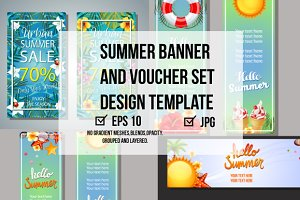 Summer Banner and Voucher Set