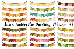 Watercolor Fall Bunting