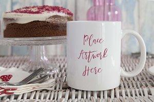 Red Velvet Cake Mug Mockup