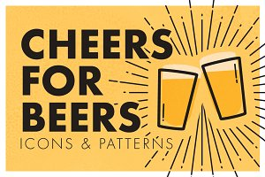 Cheers for Beers Icon & Pattern Set