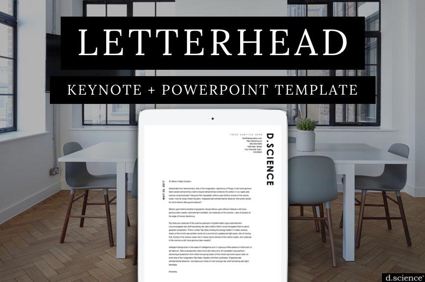 Minimalist letterhead template no1 resume templates creative market spiritdancerdesigns Images