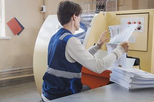 The print operator puts a sheet of paper