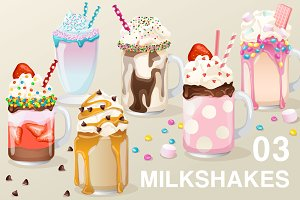 Set of Fancy Milkshakes03