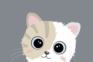 Vector cute cat design