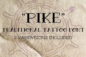 Pike Traditional Tattoo Font