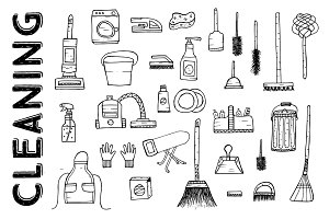 Cleaning Tools. Cleaning service.