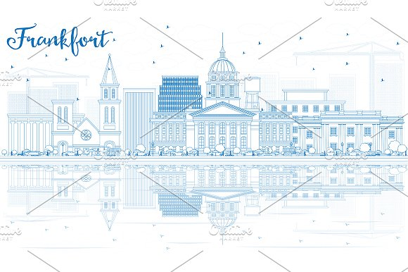 Outline Frankfort Skyline