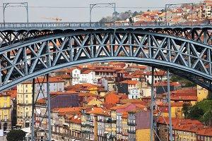 Arch of Ponte Luis I Bridge in Porto