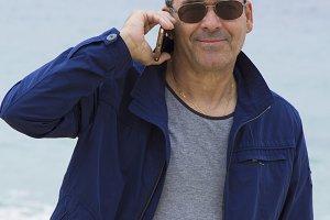 senior man talking on the cellphone