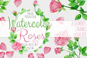 Rose Watercolor Clip Art