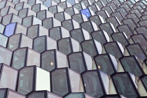 Detail of a glass facade