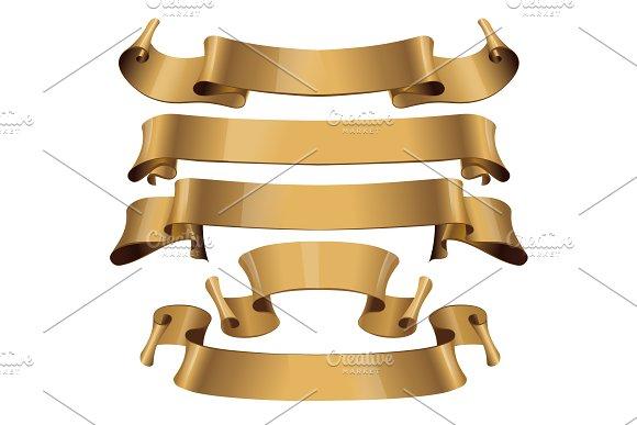 Gold Glossy Ribbons