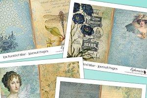 Enchanted Blue Printable Journal Kit