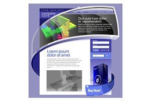 Purple Website Template