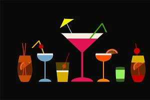 Cocktail alcohol background