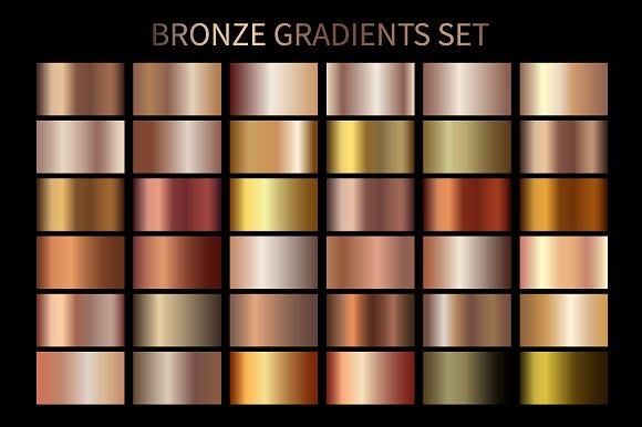 Set Of Bronze Gradient Swatches