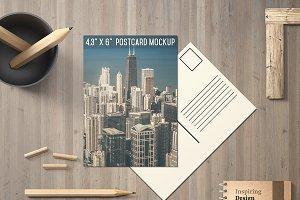 4.3x6'' Postcard Mockup