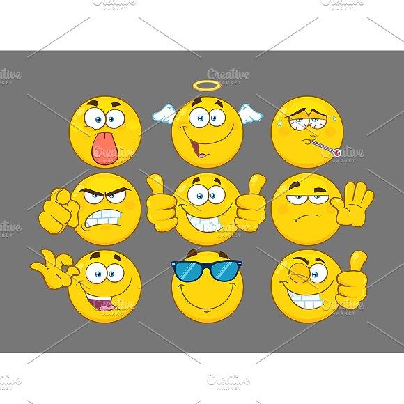 Cartoon Emoji Face. Collection