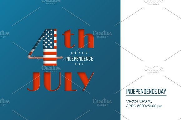 USA Independence Day background. in Illustrations