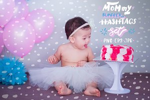 Mommy Blogger Hashtags Set