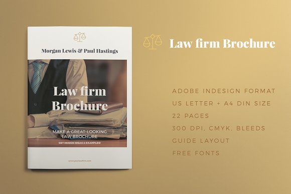 law firm brochure brochure templates creative market