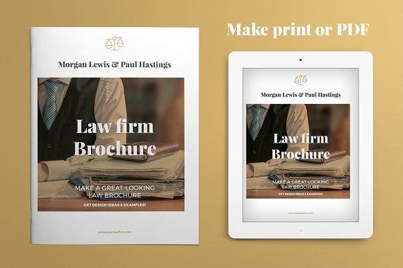 Law Firm Brochure ~ Brochure Templates ~ Creative Market